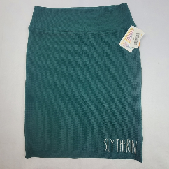 NWT LulaRoe Harry Potter green Slytherin skirt